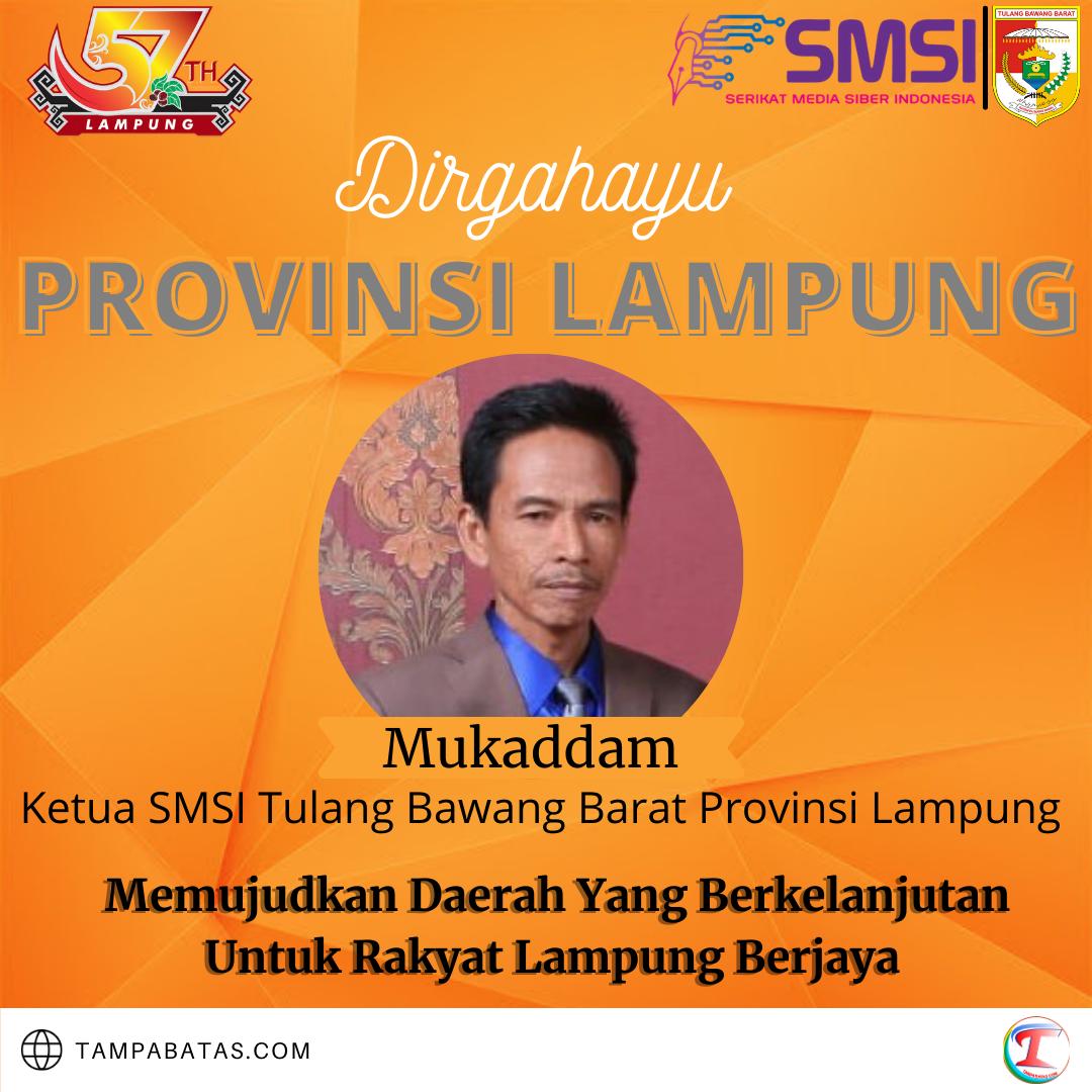 Ketua SMSI Tulang Bawang Barat Provinsi Lampung