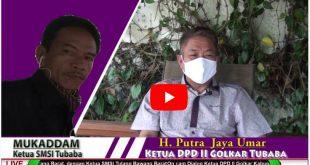 Dialog Ketua DPD II Golkar Kabupaten Tulang Bawang Barat dengan Ketua SMSI Tulang Bawang Barat